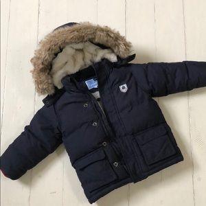 Jacadi Paris Navy Blue Down Coat Toddlers 36M